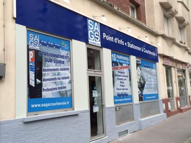 SAGS Parc Point d'info Stationner à Courbevoie